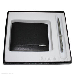 Подарочный набор CROSS SLIM WALLET & AGENDA PEN SET (портмоне и ручка) ACC436B-1