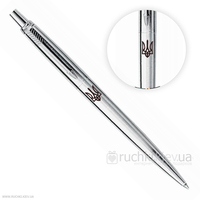 Шариковая ручка Parker Jotter Stainless Steel СТ Трезубец 13 332_TR
